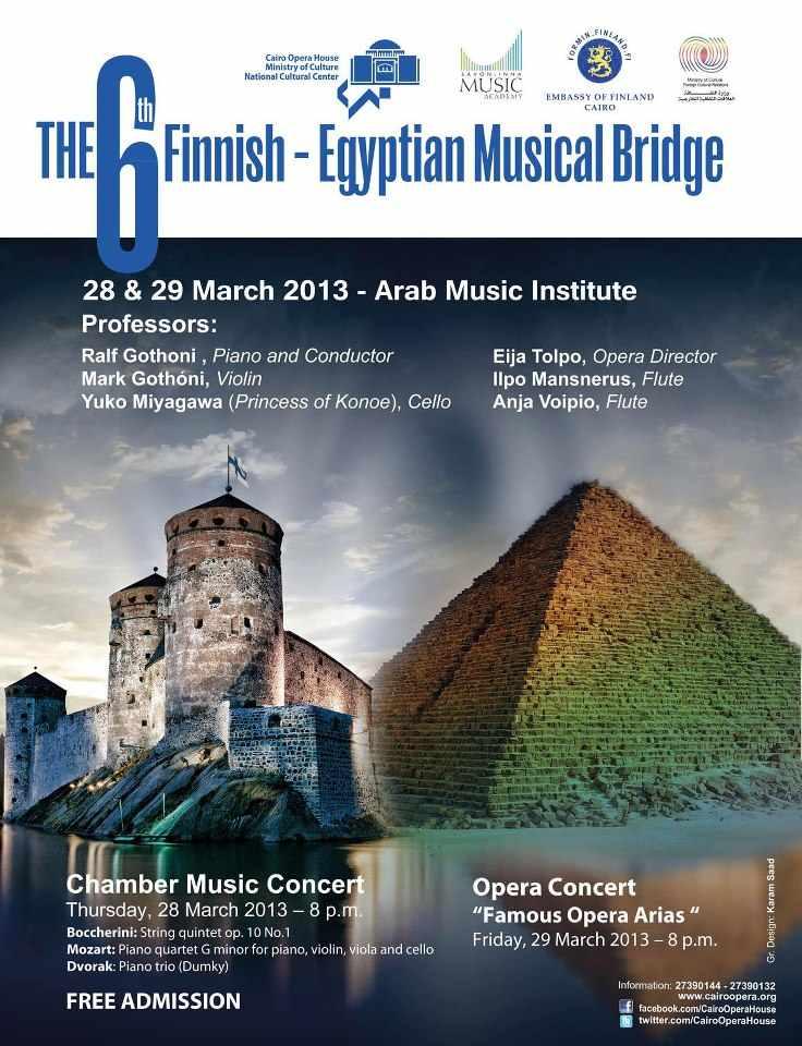 The Egyptian-Finnish Musical Bridge returns to Cairo